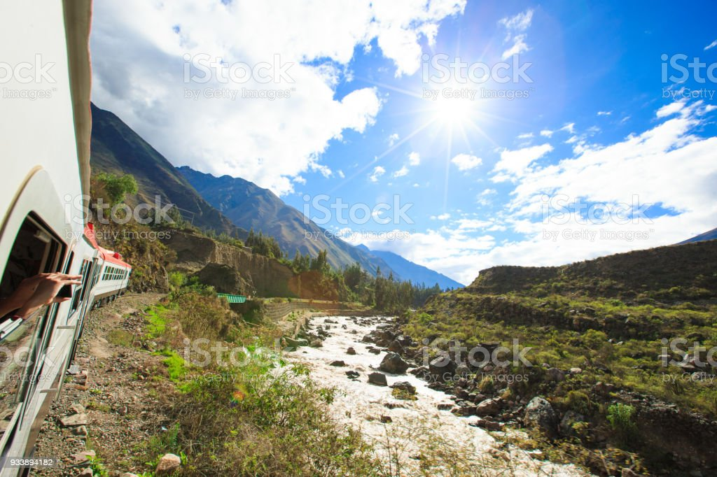 The train to Machu Picchu. stock photo