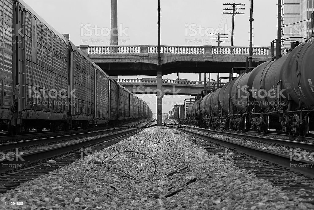 The Trains Collide stock photo