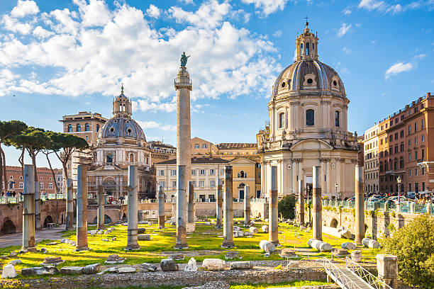 The Trajan's Forum in Rome, Italy. The Trajan's Forum in Rome, Italy. roman forum stock pictures, royalty-free photos & images