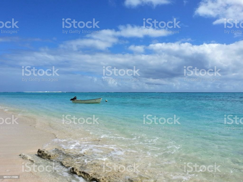 The tranquil blue waters off Mystery Island stock photo