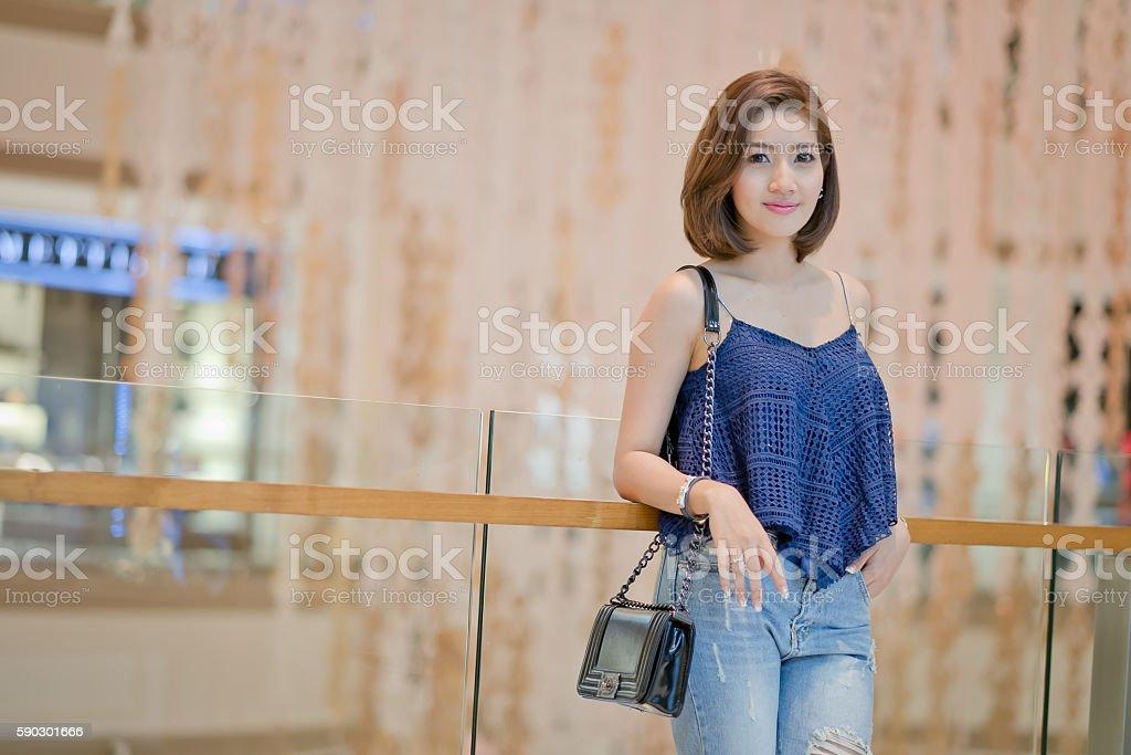 The Travel tourist woman on vacation, royaltyfri bildbanksbilder