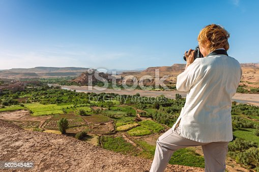 872393896istockphoto The traveler photographing afternoon Aït Ben Haddou,  Morocco, North Africa 502545482