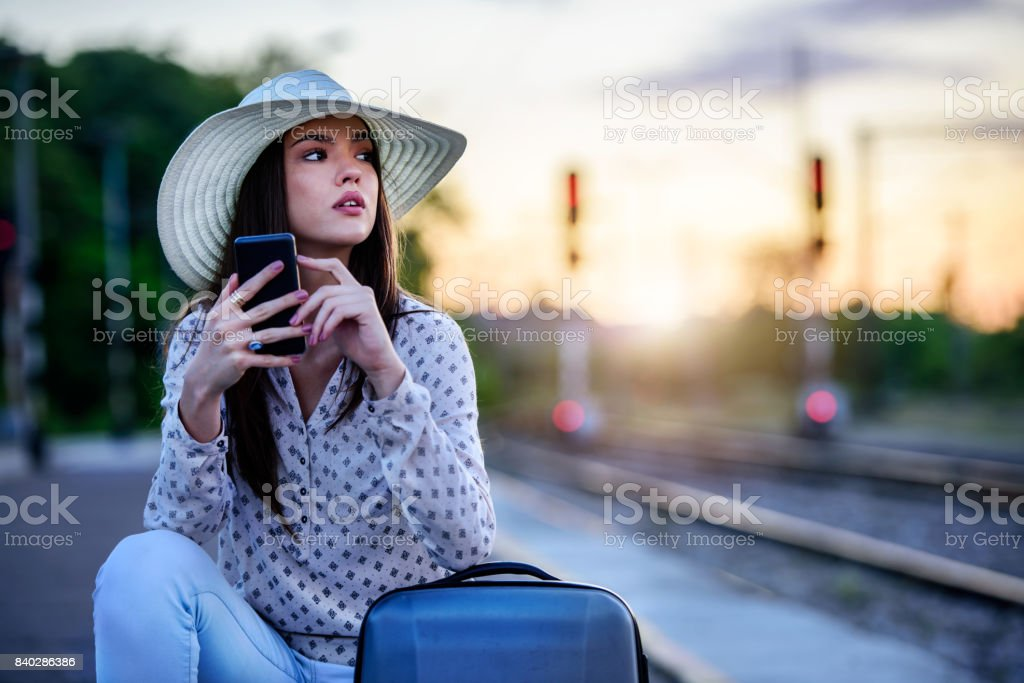 The Traveler's Suitcase stock photo