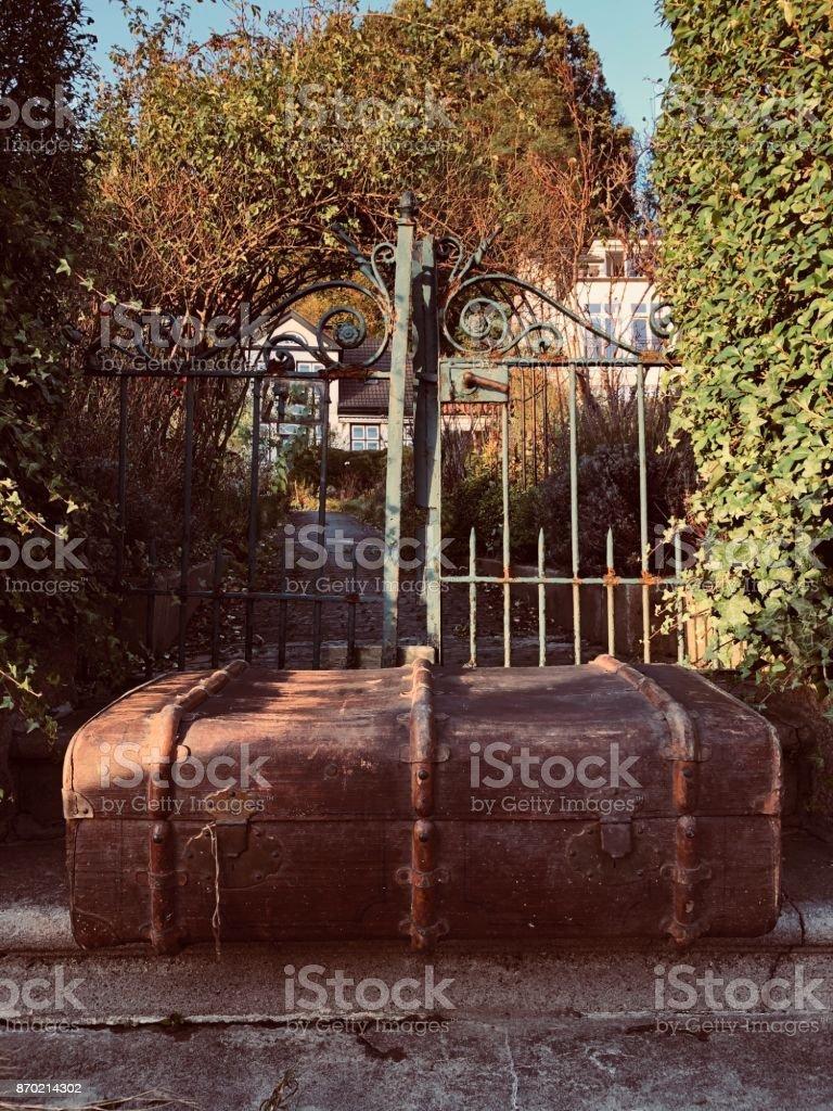 The traveling suitcase V stock photo