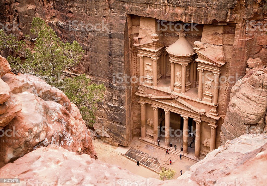 The Treasury. Ancient city of Petra, Jordan stock photo