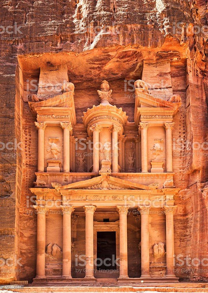 The Treasury at Petra - Jordan stock photo