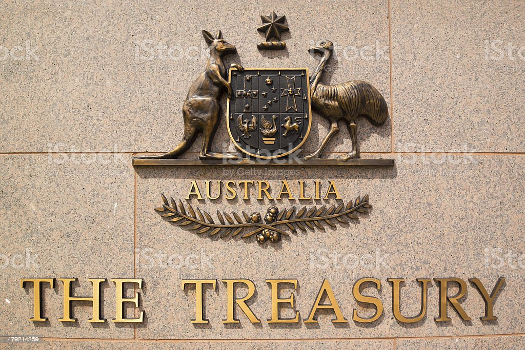 The Treasury, Australia stock photo