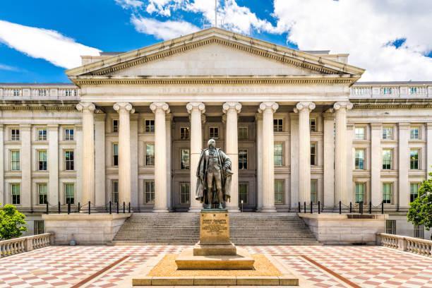 El edificio del tesoro en Washington D.C - foto de stock