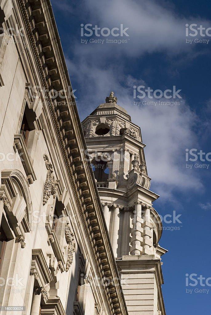 The Treasury Building, Whitehall, London. stock photo