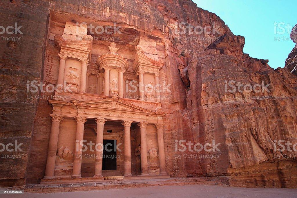 The Treasury in Petra, Jordan stock photo