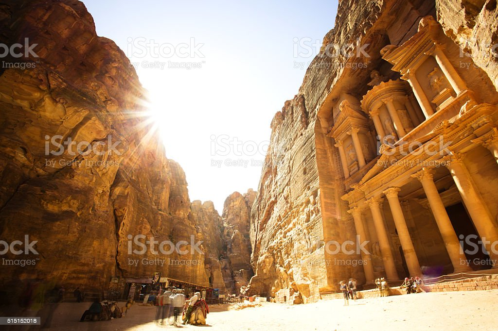 The Treasury (Al Khazneh) of Petra Ancient City, Jordan stock photo