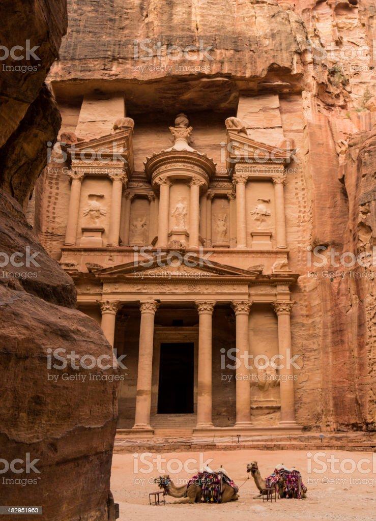 The Treasury (Kasneh) - Petra, Jordan royalty-free stock photo