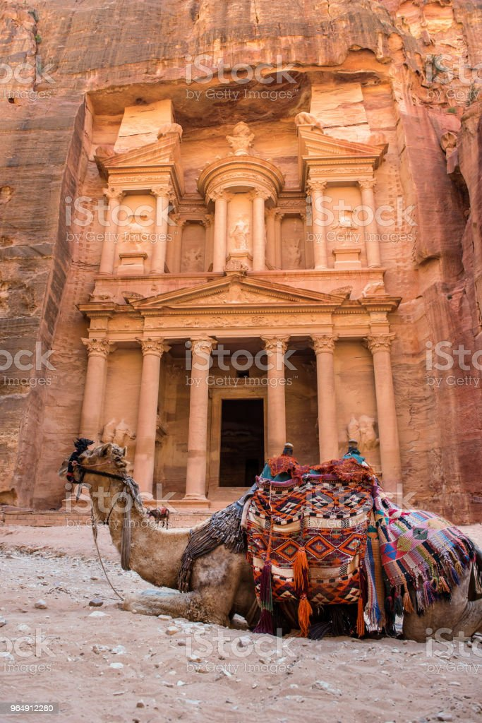 The Treasury. Petra, Jordan royalty-free stock photo