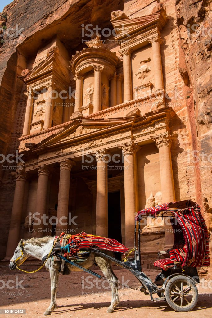 The Treasury. Petra, Jordan royalty-free stock photo