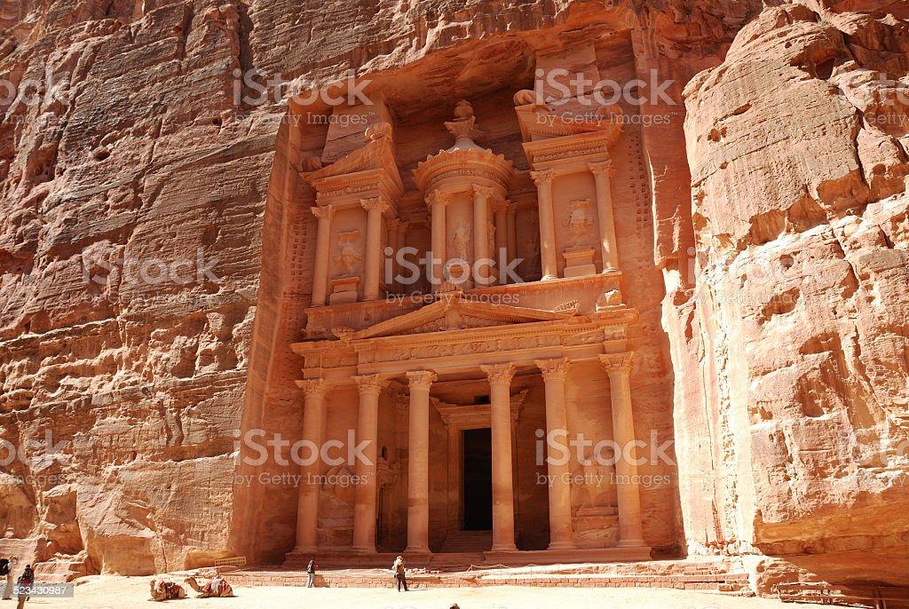 The Treasury, Petra stock photo