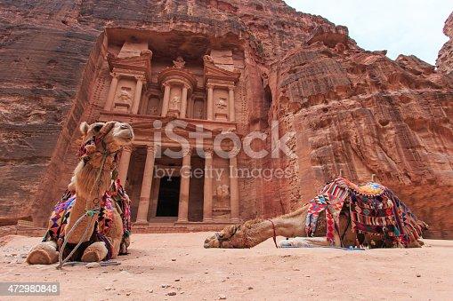 istock The Treasury,Al Khazneh, in Petra, Jordan 472980848