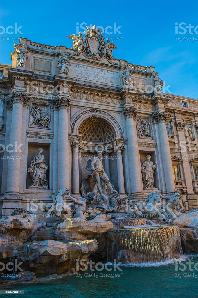 The Trevi Fountain In Rome, Italy stock photo