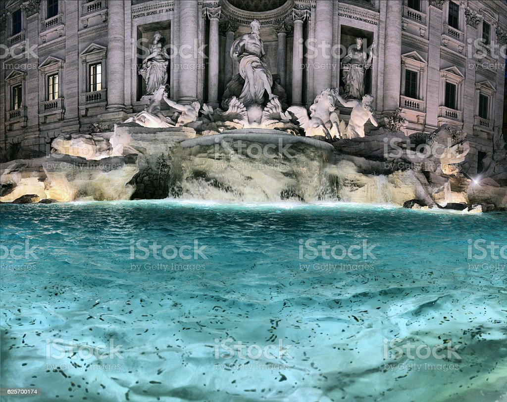 The Trevi Fountain (Italian stock photo