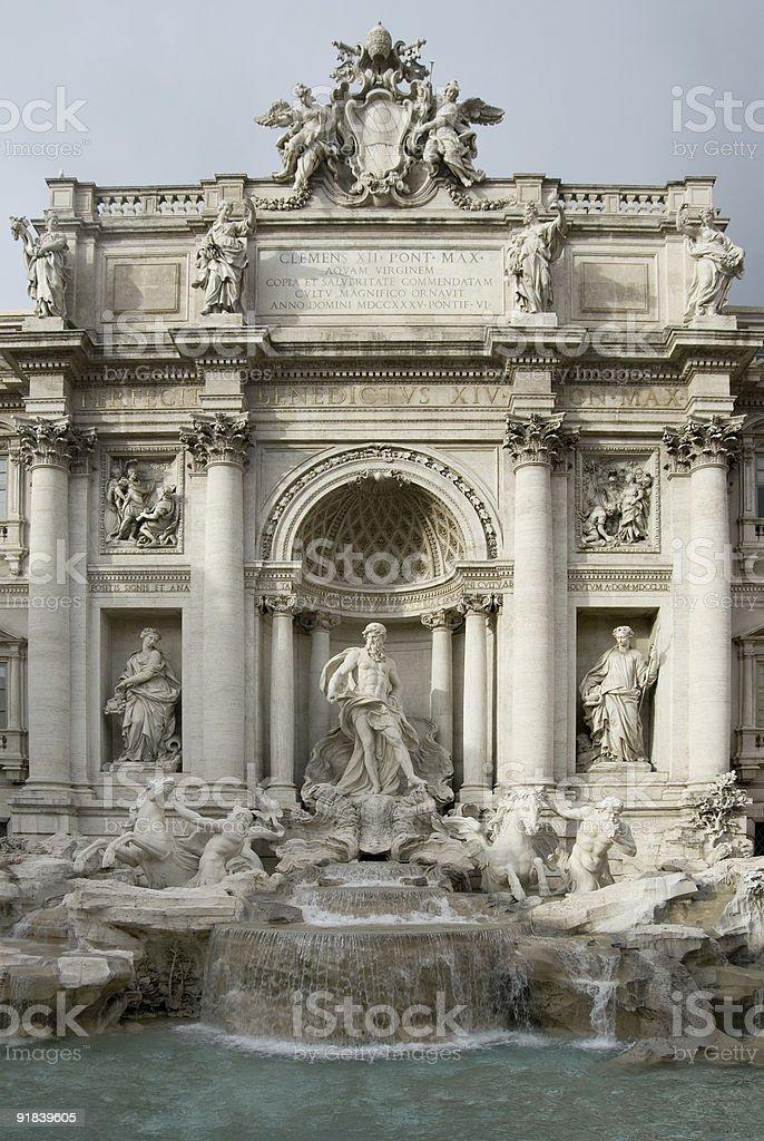 The Trevi Fountain - Rome royalty-free stock photo