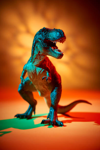 The TRex with hot light color stock photo