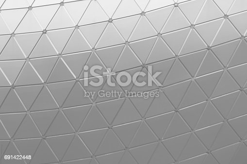 472923810 istock photo The triangle aluminum metal wall facade panel architectural detail 691422448