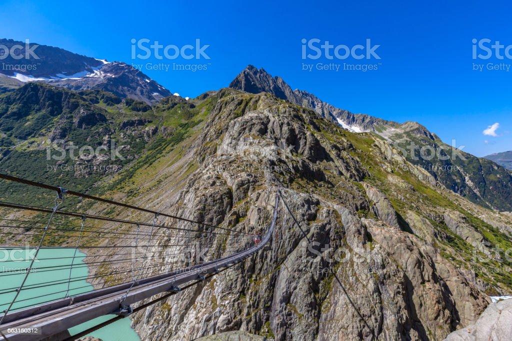 The Trift bridge stock photo