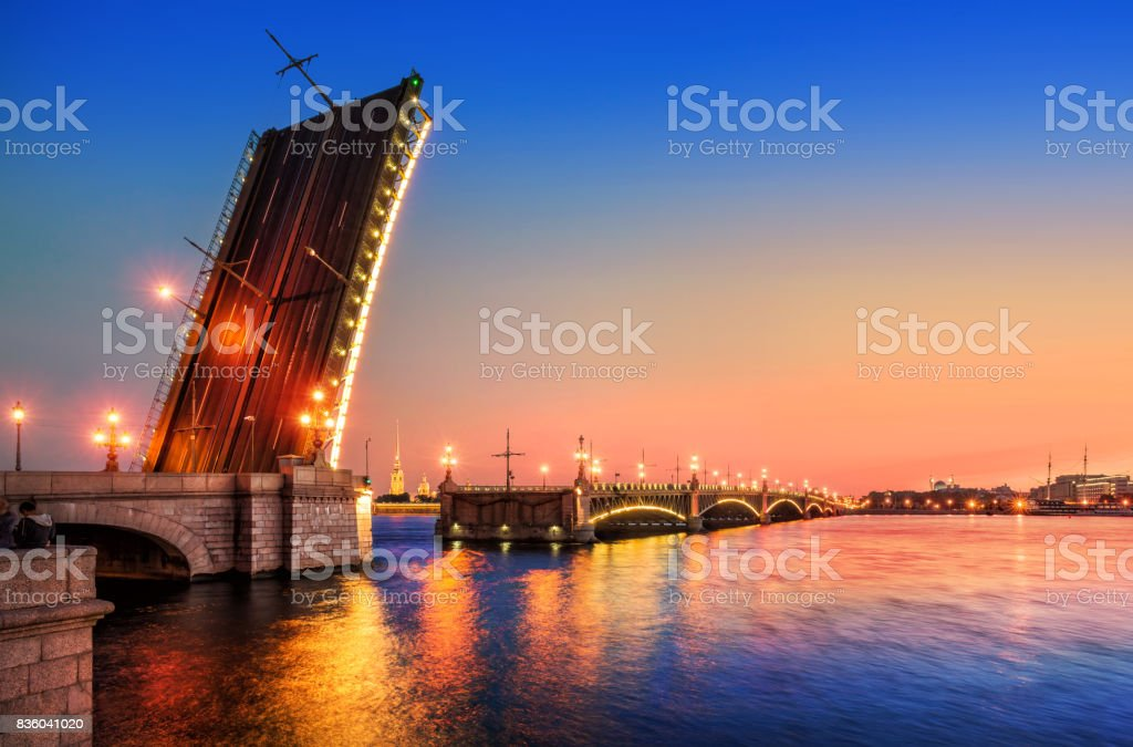 The Trinity Bridge was opened stock photo