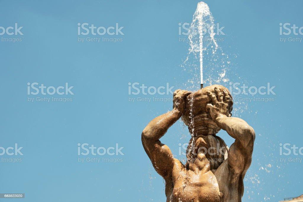 The Triton in Barberini Square stock photo