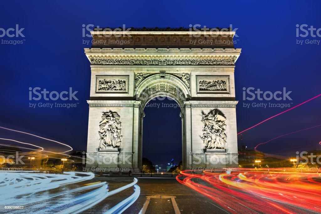 The Triumphal Arch in Paris stock photo