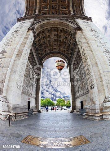 istock The Triumphal Arch in Paris 895584788