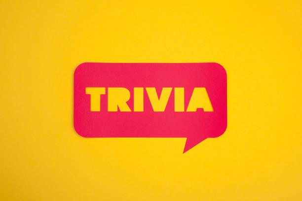 The trivia cardboard text sign stock photo