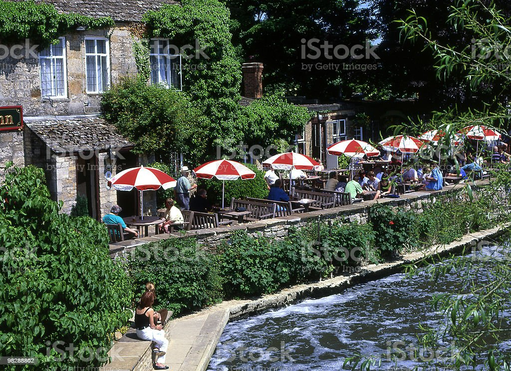 The Troat Inn on River Cherwell in Oxford. England royalty-free stock photo