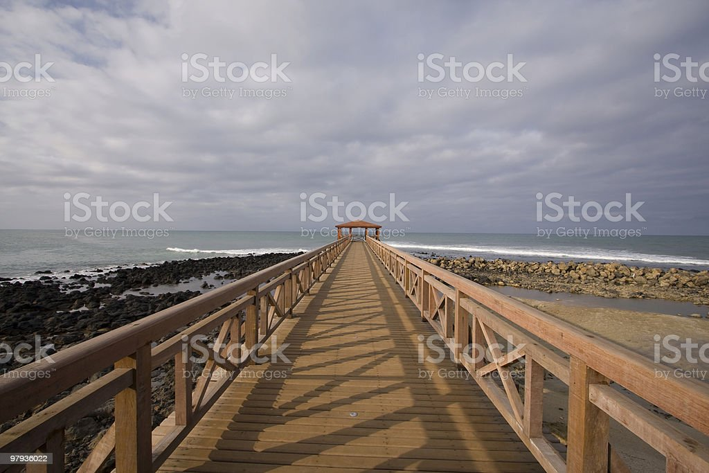 the tropical pier royalty-free stock photo