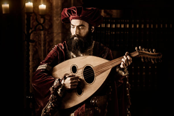 the troubadour - renaissance stock pictures, royalty-free photos & images