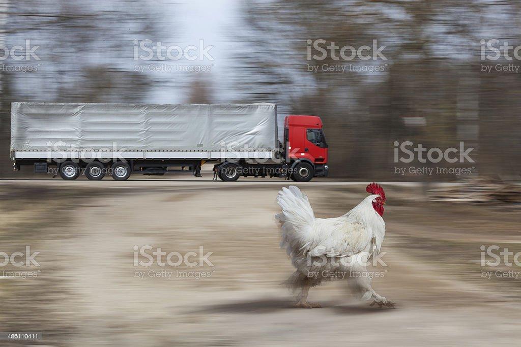 Грузовик быстрого движения на шоссе стоковое фото