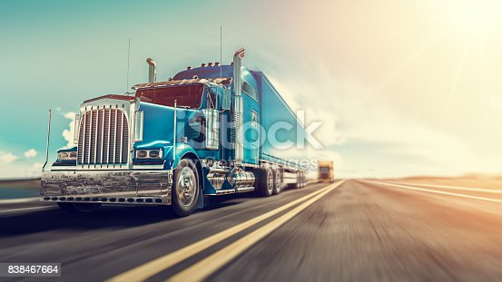 istock The truck runs on the highway. 838467664