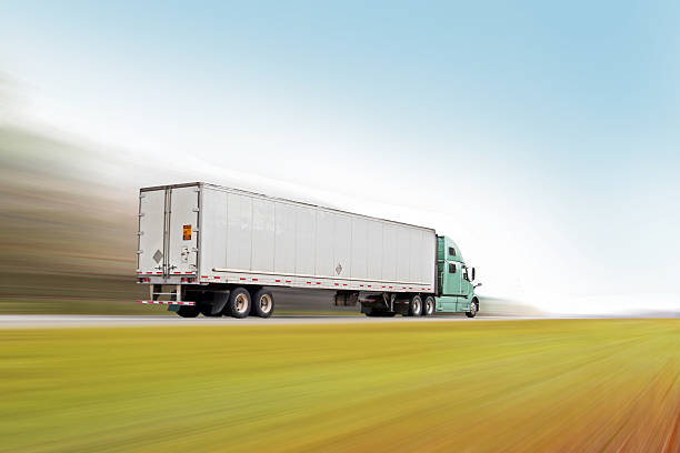 The Trucking Industry, Hauling Freight Across The Country stock photo