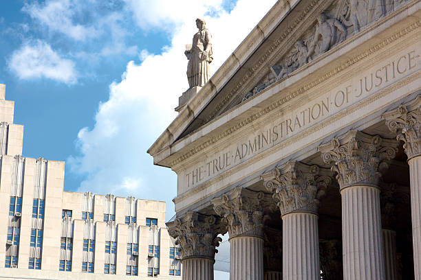 The True Administration of Justice stock photo