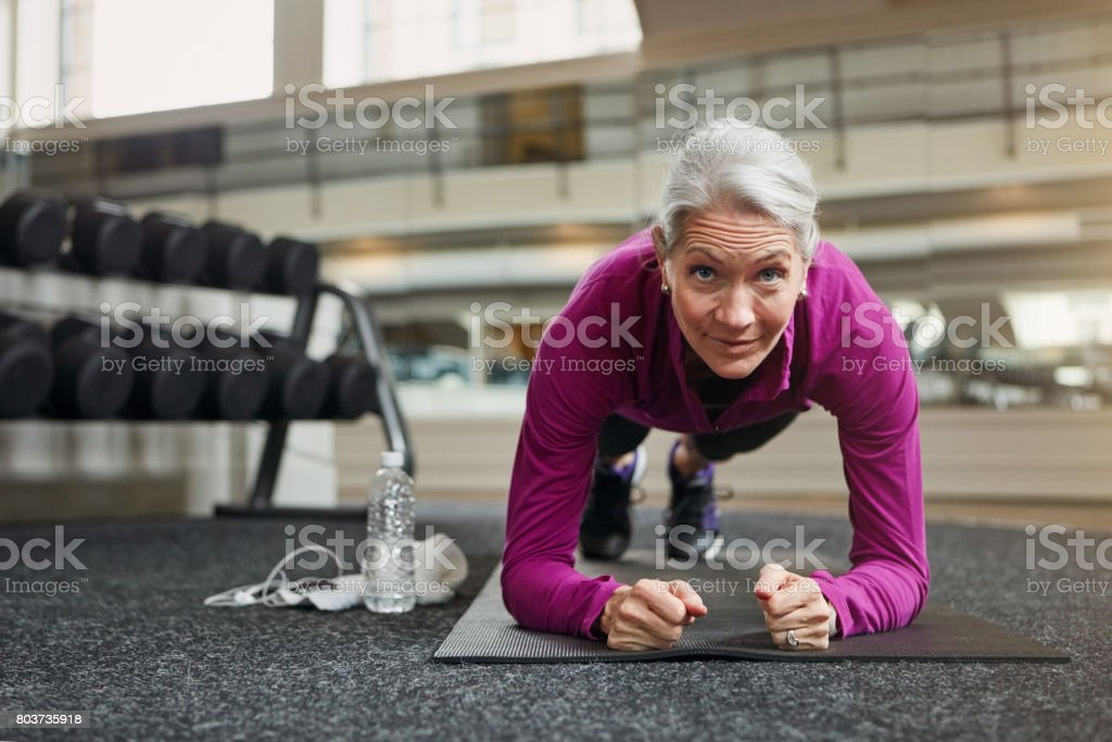 The true definition of fit and fierce stock photo