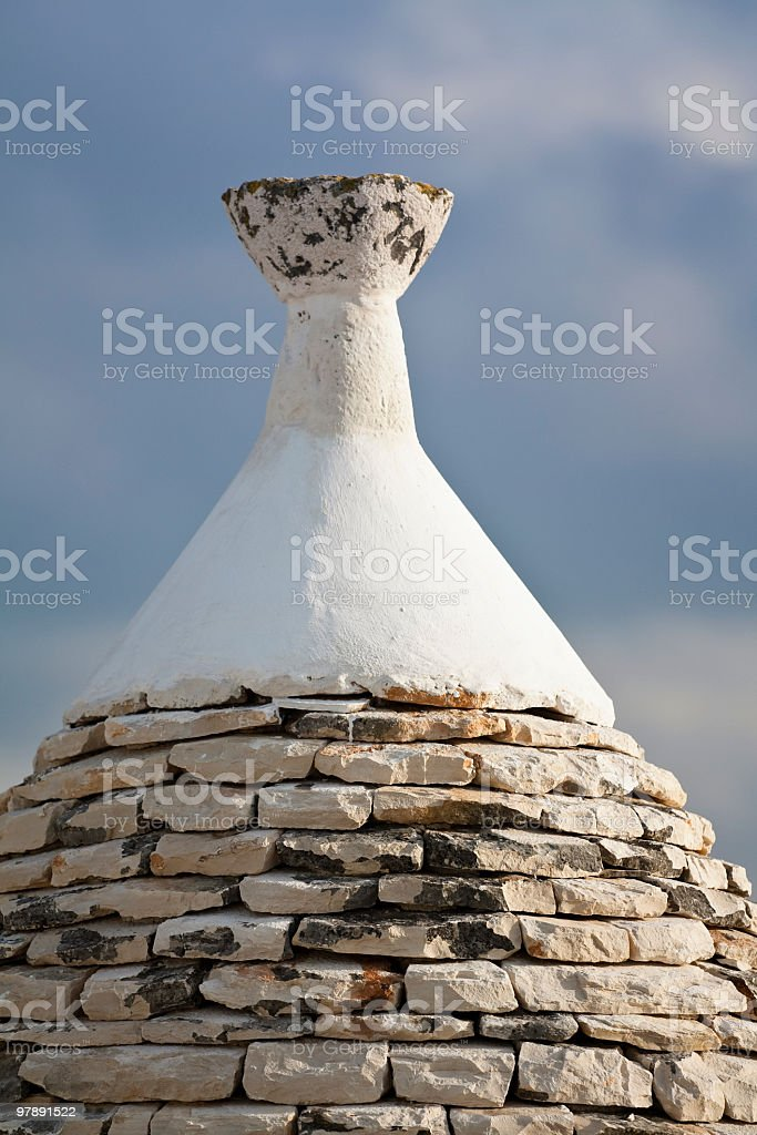 The Trulli are ancient houses in Apulia region ( ITALY) royalty-free stock photo