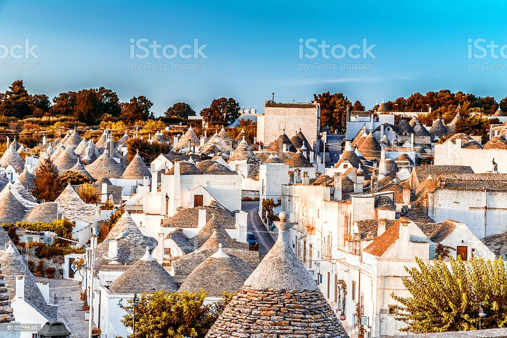 The Trulli houses of Alberobello in Apulia in Italy stock photo