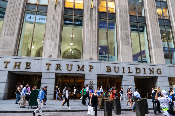 De Trump Building in Manhattan, New York City, Verenigde Staten​​​ foto