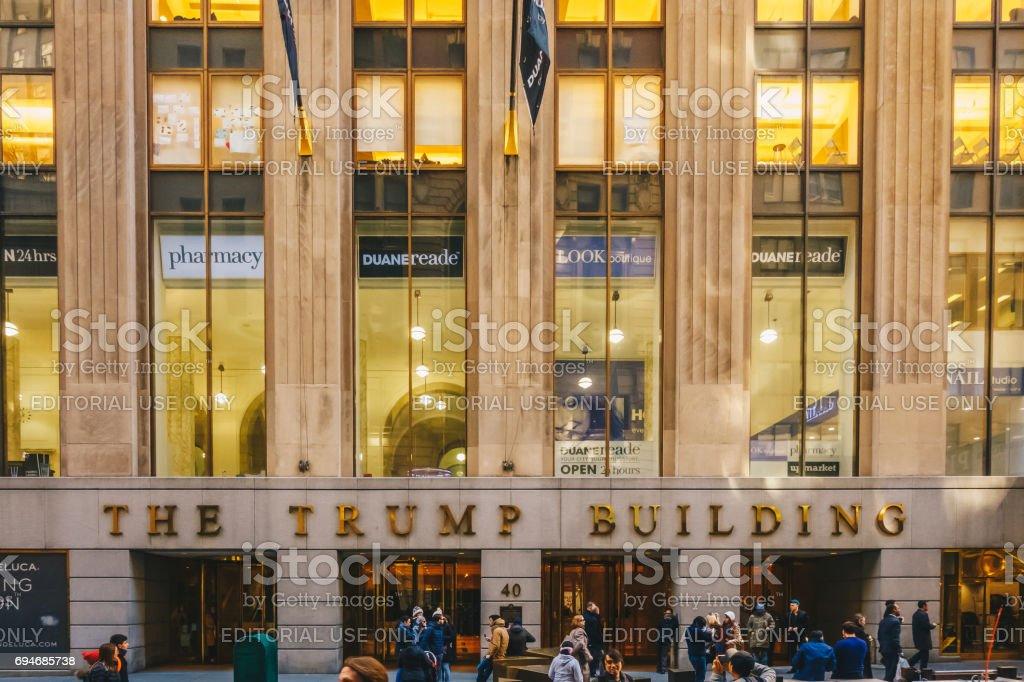 El Edificio De Trump En Wall Street 1995 Presidente