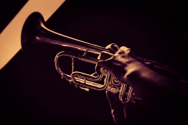 The trumpet player at the jazzclub – Foto