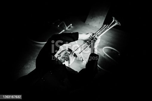 Trumpet, Player, modern, face, art, jazz, trumpet player, close-up, music, fun, entertainment, passion, city life, fashion,