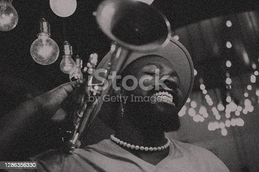Trumpet, Player, dark, art, jazz, trumpet player, close-up, music, fun, indoors, passion, nightlife,