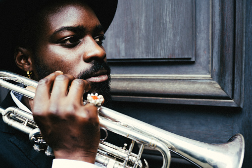 Trumpet, dark, art, jazz, trumpet player, close-up, music, fun, outdoors, passion, concert,