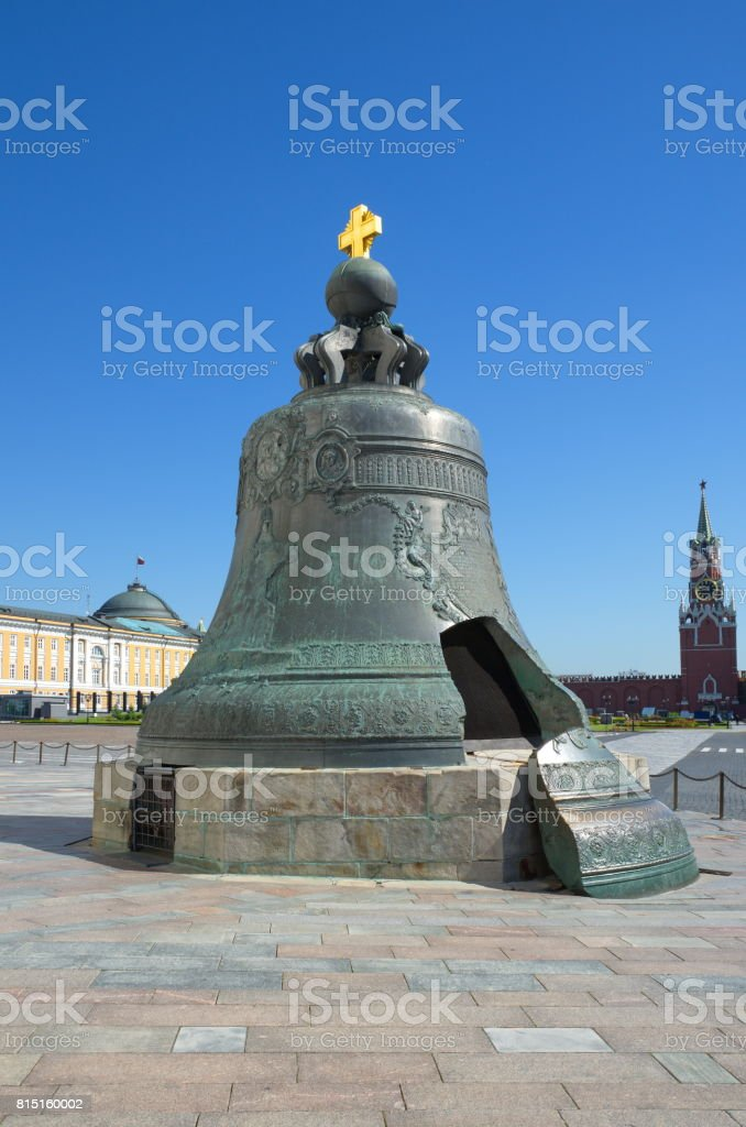 The Tsar bell in the Moscow Kremlin, Moscow, Russia stock photo