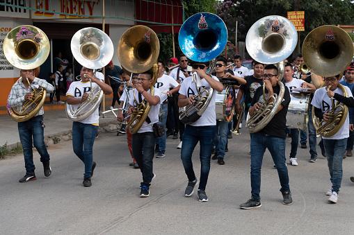 The Tuba Section of the Band at the Día de los Muertos Festival in Oaxaca