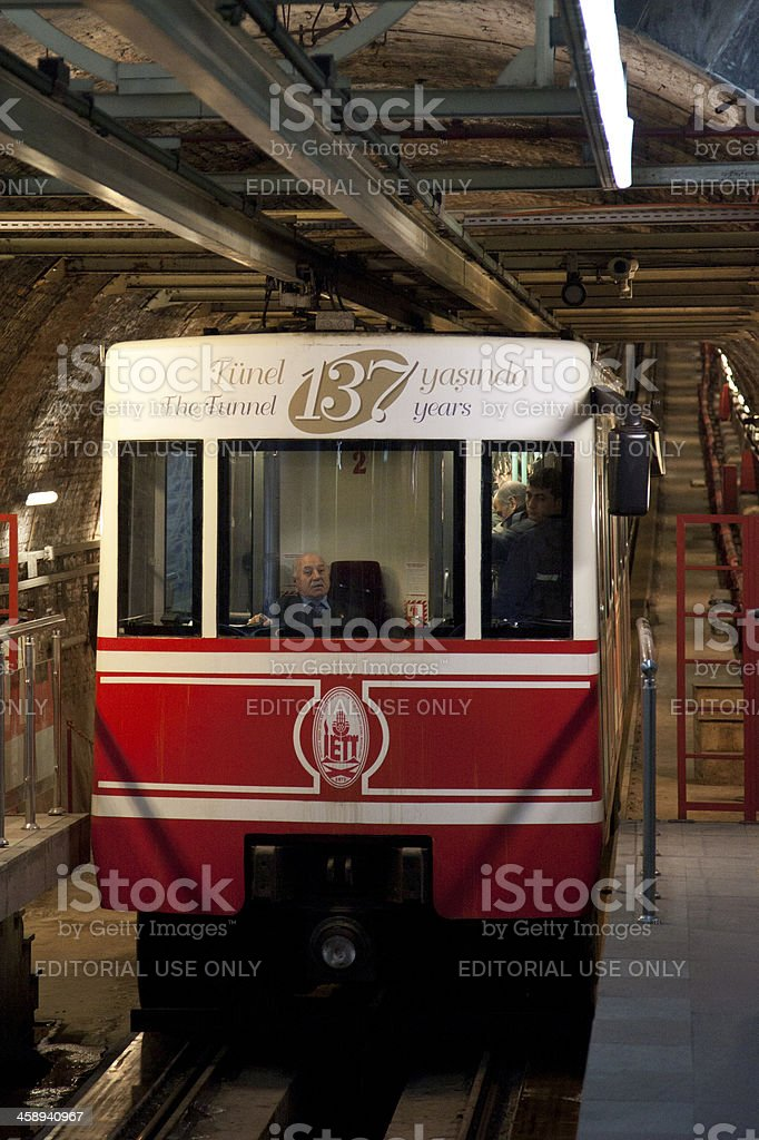 Istanbul, Turkey - March 28, 2012: The Tunnel royalty-free stock photo